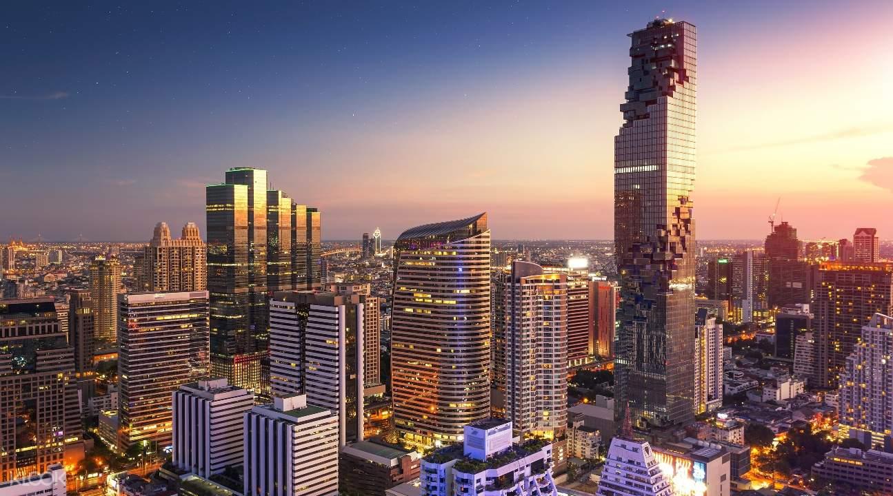 King Power MahaNakhon and the Bangkok cityscape at dusk